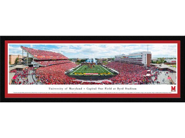 NCAA Maryland, University of by James Blakeway Framed Photographic Print by Blakeway Worldwide Panoramas, Inc