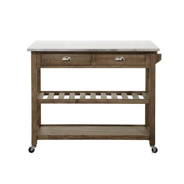 Kitchen Cart With Stainless Steel Top By Burnham Home Designs Modern