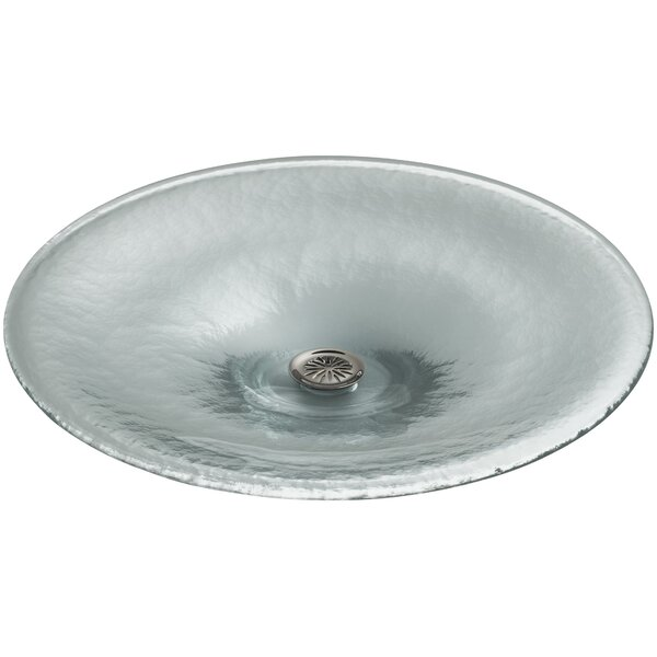 Vessels Glass Circular Vessel Bathroom Sink by Kohler