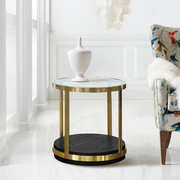 Gelston End Table by Everly Quinn
