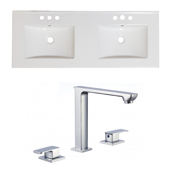 Anirudh Ceramic 48 Double Bathroom Vanity Top