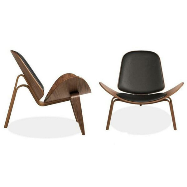 Charla Leatherette Upholstered Wooden Parsons Chair by Corrigan Studio