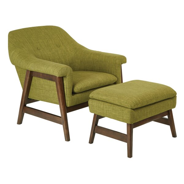 Wilber 20.25-inch Lounge Chair and Ottoman by Corrigan Studio Corrigan Studio
