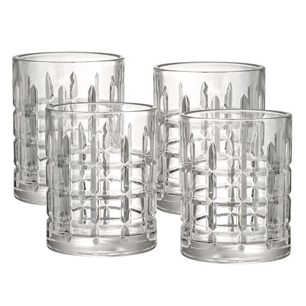 Unger 15 Oz. Double Old Fashioned Glass with Gift Box (Set of 4) by Andover Mills