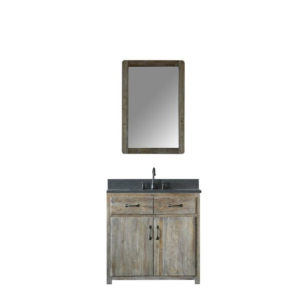 Warm Springs Solid Elm 36 Single Bathroom Vanity Set with Mirror by Laurel Foundry Modern Farmhouse