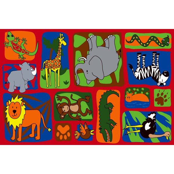My Buddies in The Jungle Area Rug by Kid Carpet