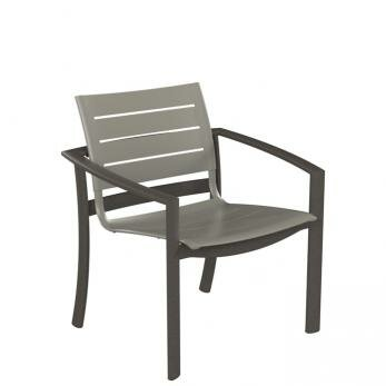 Kor Aluminum Slat Patio Dining Chair by Tropitone