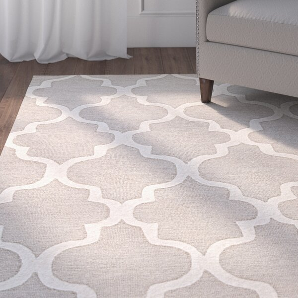 Felix Gray & Ivory Geometric Area Rug by Alcott Hill