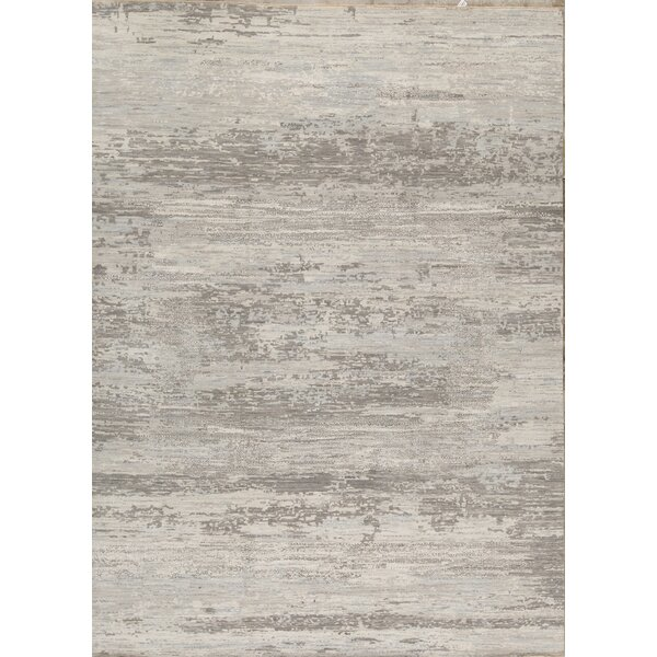 Neo Villa Abstract Hand-Knotted Gray Area Rug