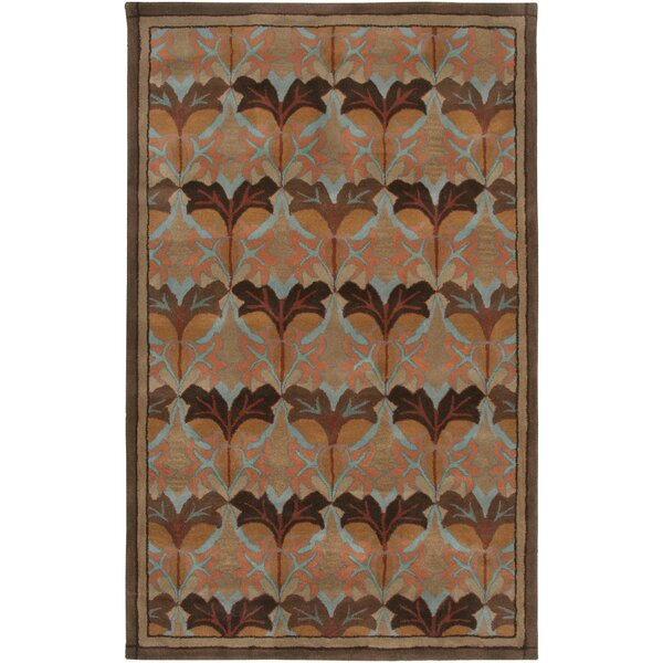 Fortaleza Hand-Tufted Brown Area Rug by Meridian Rugmakers