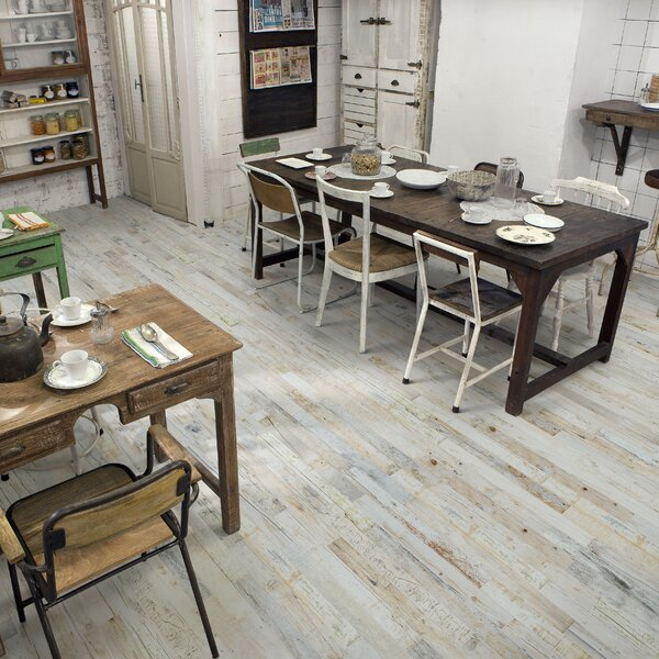 Zara 2.88 x 26.5 Porcelain Wood Look Tile in Gray/Beige by EliteTile