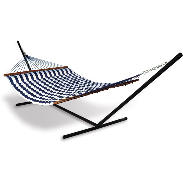 Spicer Polyester Hammock with Stand by Breakwater Bay