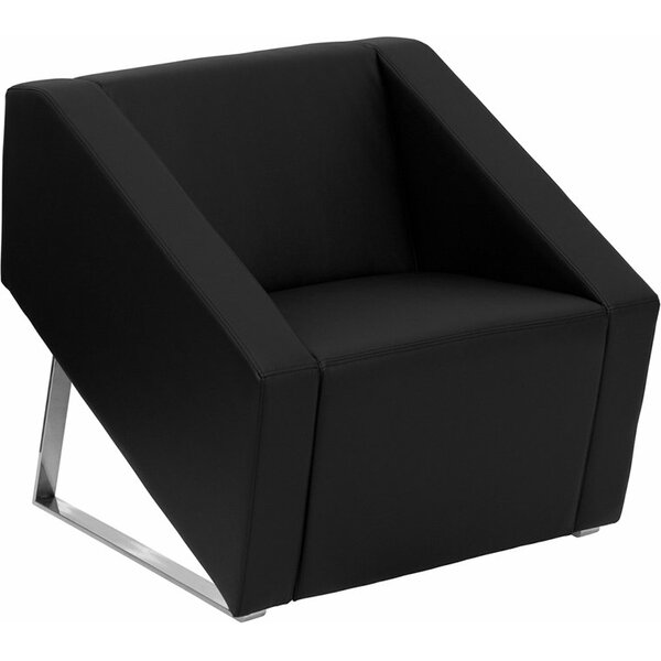 Wheatley Office Leather Lounge Chair by Orren Ellis