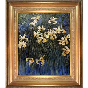 Irises by Claude Monet Framed Painting by Tori Home