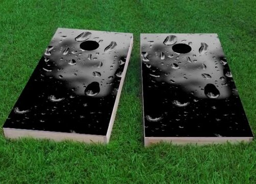 Rain Drops Cornhole Game (Set of 2) by Custom Cornhole Boards