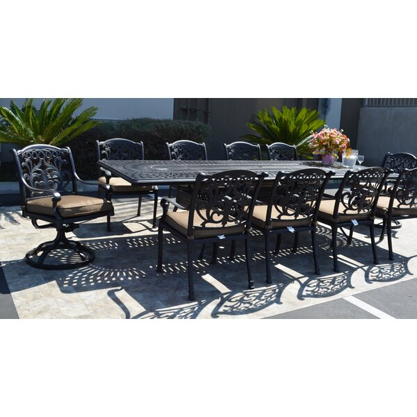 Mifflinville 11 Piece Dining Set with Cushions by Darby Home Co