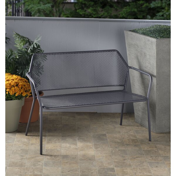 Kendleton Wrought Iron Garden Bench by Brayden Studio
