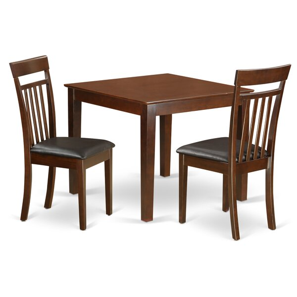 Cobleskill Faux Leather 3 Piece Dining Set by Alcott Hill