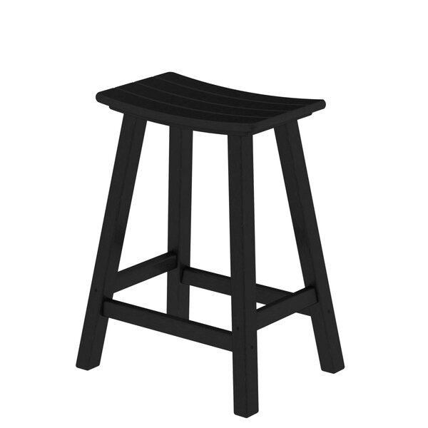 Traditional 24 Saddle Bar Stool by POLYWOOD®