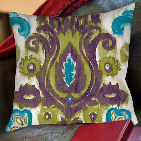 Radiant Transitions Printed Throw Pillow by Manual Woodworkers & Weavers