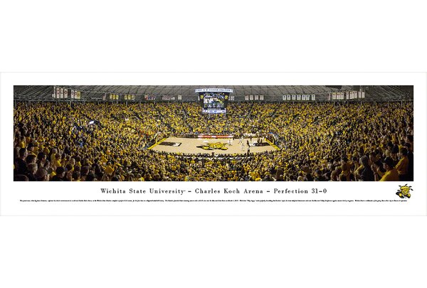 NCAA Wichita State University - Charles Koch Arena by James Simmons Photographic Print by Blakeway Worldwide Panoramas, Inc