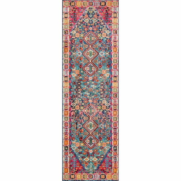 Azemmour Blue/Pink Area Rug