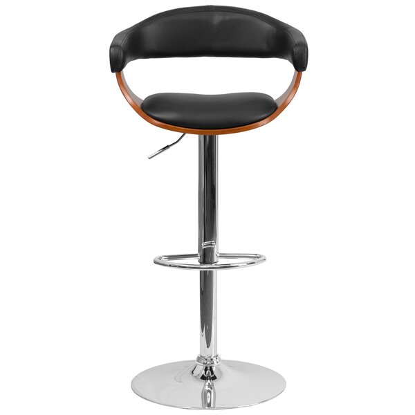 Alfred Adjustable Height Swivel Bar Stool by George Oliver