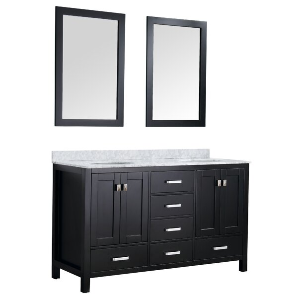 Tia 60 Double Bathroom Vanity Set with Mirror by Brayden Studio