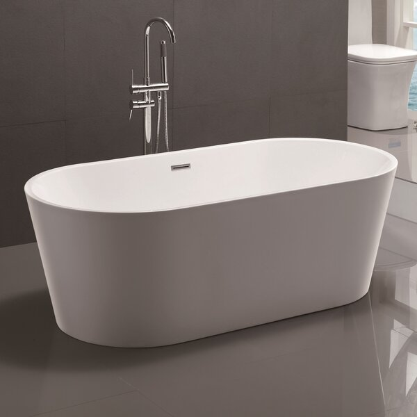 67.5 x 32 Freestanding Soaking Bathtub by Vanity A