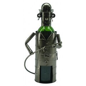 Fireman 1 Bottle Tabletop Wine Rack by Three Star Im/Ex Inc.
