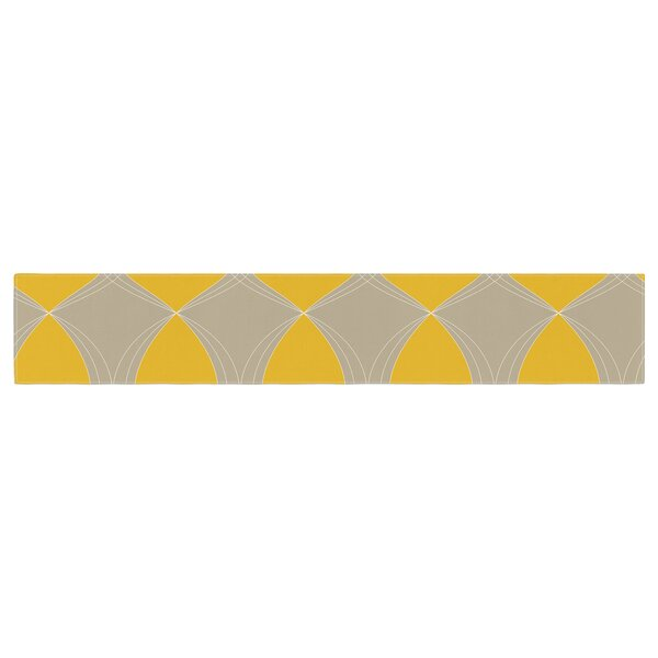 Julia Grifol Geometries Table Runner by East Urban Home