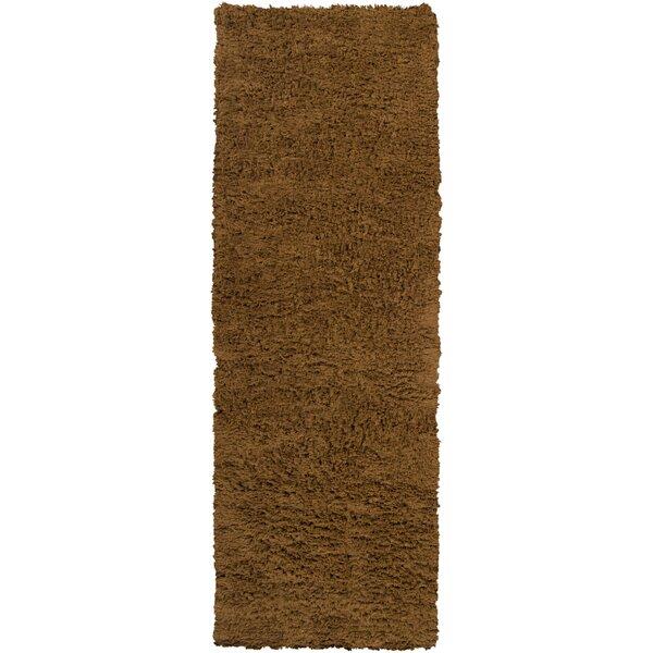 Ashton Handmade Flatweave Wool Brown Area Rug