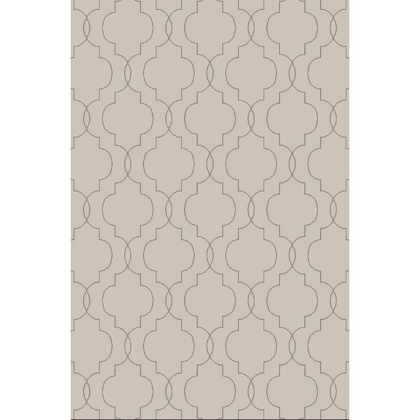 Amenia Light Gray Geometric Rug by Darby Home Co