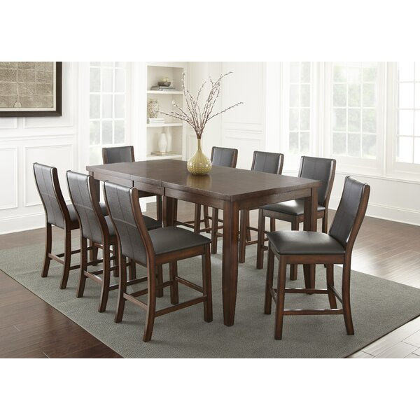 Abigale 9 Piece Counter Height Dining Set by Alcott Hill