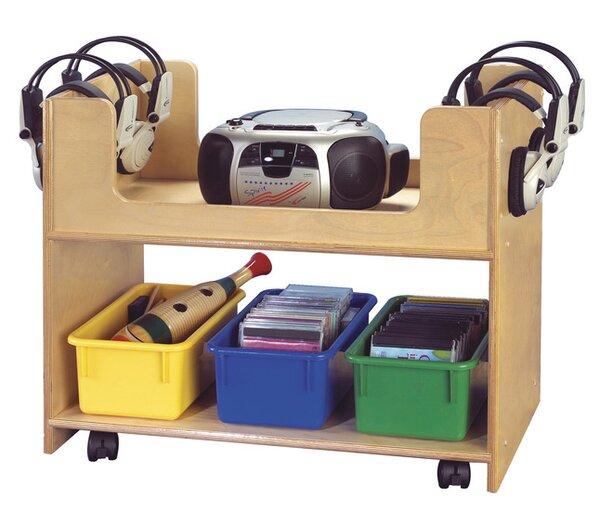 Mobile Audio Station Junior Teaching Cart by Childcraft