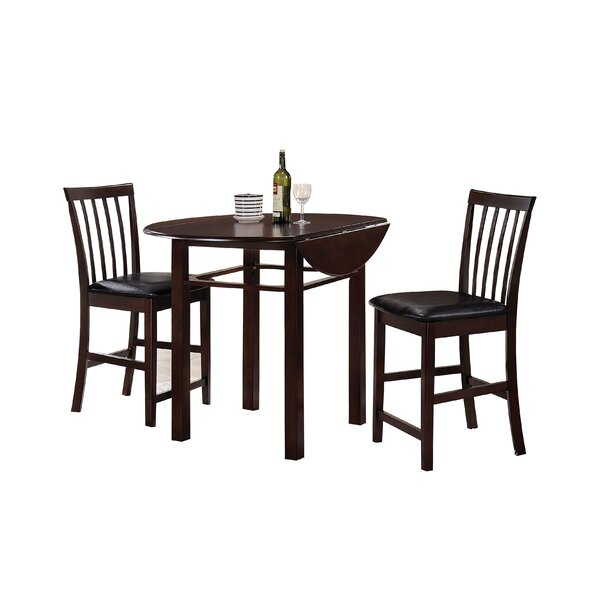 Duxbury 3 Piece Counter Height Dining Set by Winston Porter