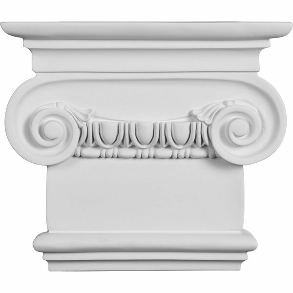 Classic 7 1/2H x 10 3/8W x 2 5/8D Ionic Small Onlay Capital by Ekena Millwork