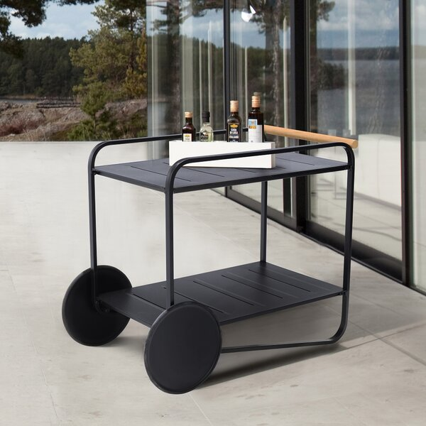 Portals Outdoor Teak Bar Serving Cart by Armen Living