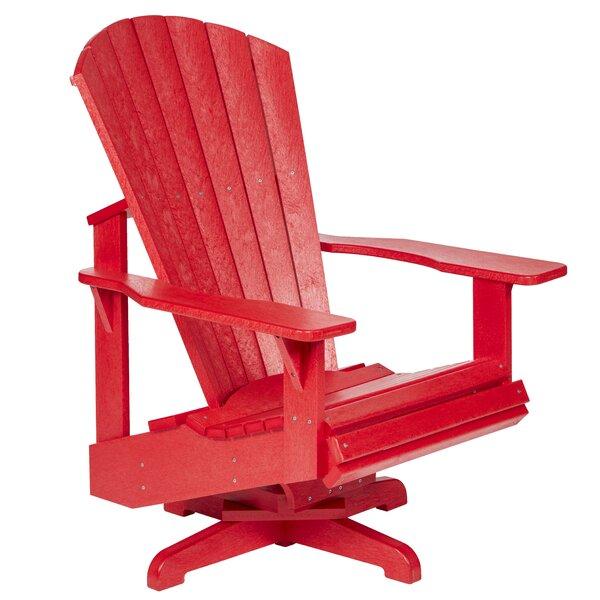 Poulsbo Swivel Patio Chair by Breakwater Bay