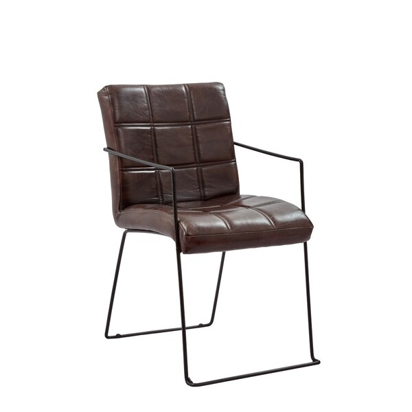 Kinley Genuine Leather Upholstered Dining Chair (Set of 2) by 17 Stories