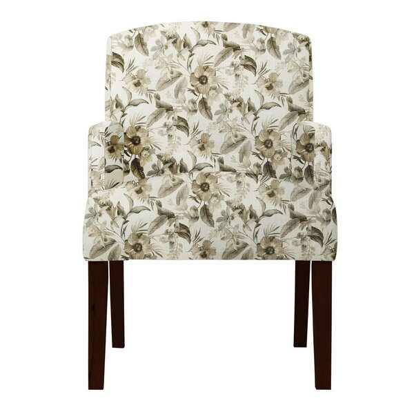 Arturo Floral Beige Arm Chair by Langley Street