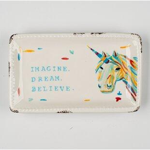 Best Reviews Imagine Dream Believe Trinket Accessory Tray ByHarriet Bee