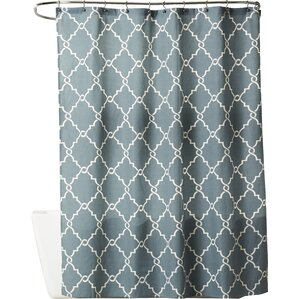 grey and green shower curtain.  Blue Shower Curtains You ll Love