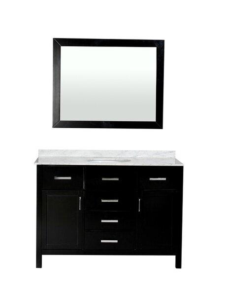 Weatherford 48 Single Bathroom Vanity Set with Mirror by Orren Ellis