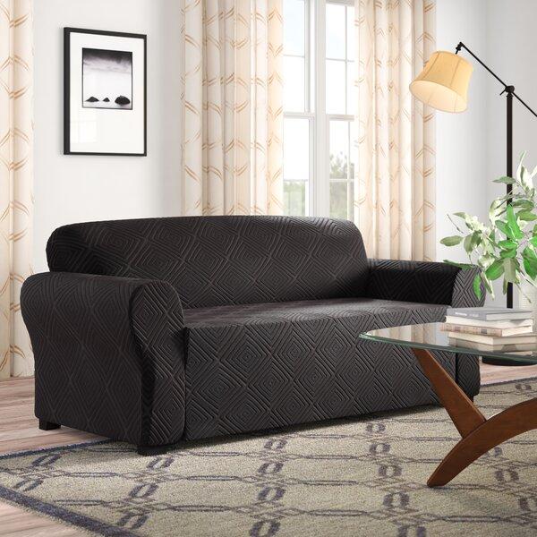 Diamond Box Cushion Sofa Slipcover By Symple Stuff Best