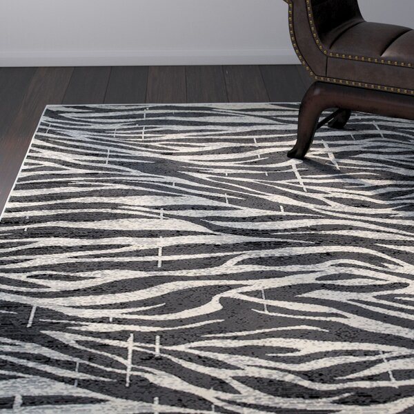 Wali Black/Gray Area Rug by Bloomsbury Market