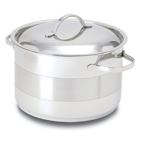 Gourmet Stainless Steel Round Dutch Oven by Cuisinox