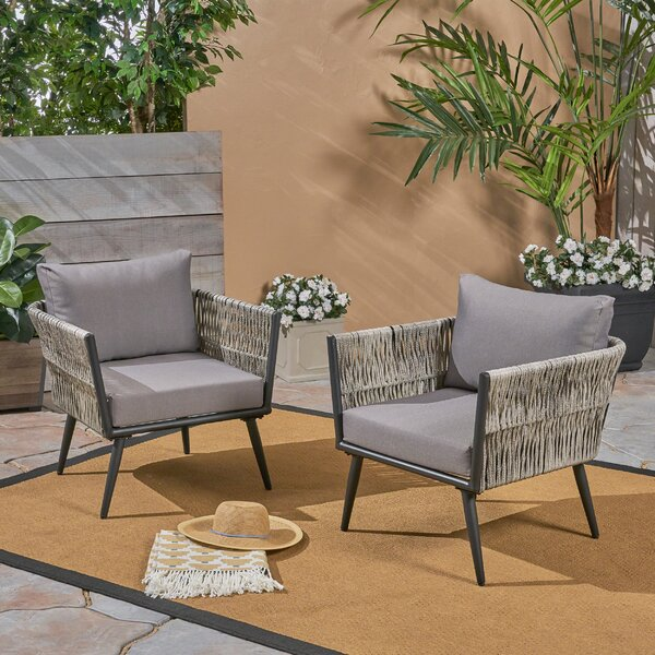 Giunta Patio Chair (Set of 2) by Brayden Studio