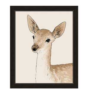 Painted Deer Framed Graphic Art by Click Wall Art