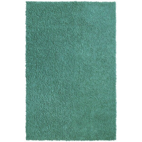 Baugh Shag Chenille Aqua Area Rug by Ebern Designs